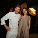 Paul Kitching, head chef at 21212 restaurant in Edinburgh, with business partner Katie O'Brien