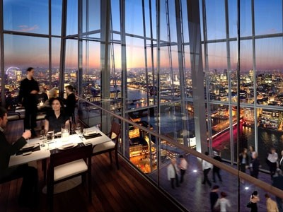 The shard restaurants revealed for Restaurants at the shard