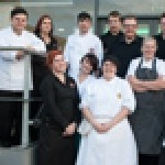 The Restaurant Academy team with general manager and Synergy's chief executive Gavin Jones (centre)