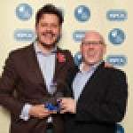 Andrei Lussmanns and Nick McGeown, the director and group head chef of Lussmanns Fish & Grill Restaurants, collected the independent restaurant prize at the RSPCA awards celebrating animal welfare