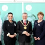 (L-R): Tony Evans (Can Cook), Gemma McGowan  (Hestia Careers & Isla Gladstone), the Lord Mayor of Liverpool Councillor Gary Millar, Kathy Cowell OBE (Your Housing Group)  and Brian Cronin (Your Housing Group)