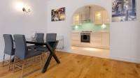 The converted period building includes 10 apartments over six floors, with one, two or three bedroom options available.