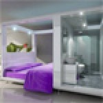 QBic Hotel London City's 171 bedrooms are all designed around the 'Cubi', an all-in-one living box