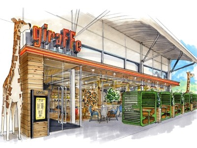 Giraffe restaurant at tesco extra watford to open for Food bar giraffe